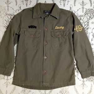 Lucky Brand Military Shirt Size M
